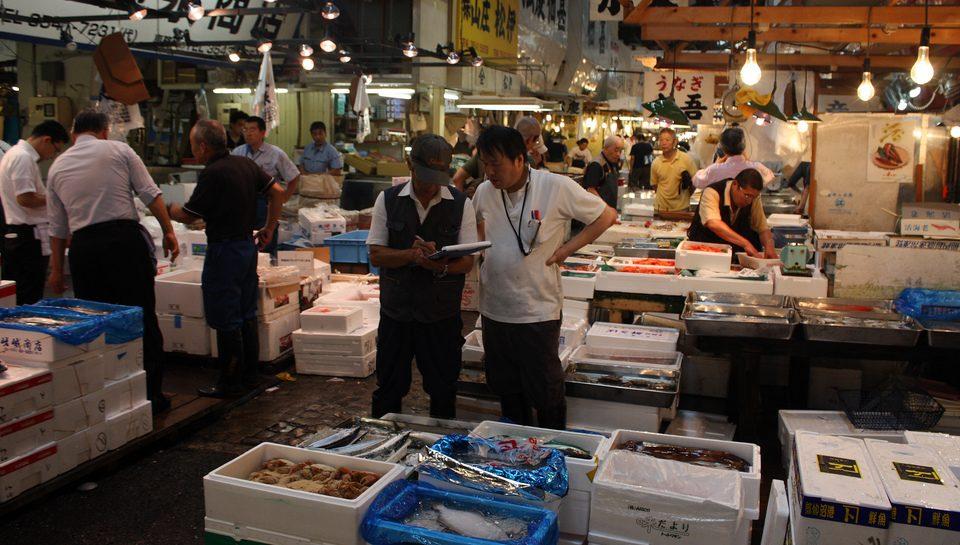 Excursão de degustação no mercado de peixe de Tsukiji