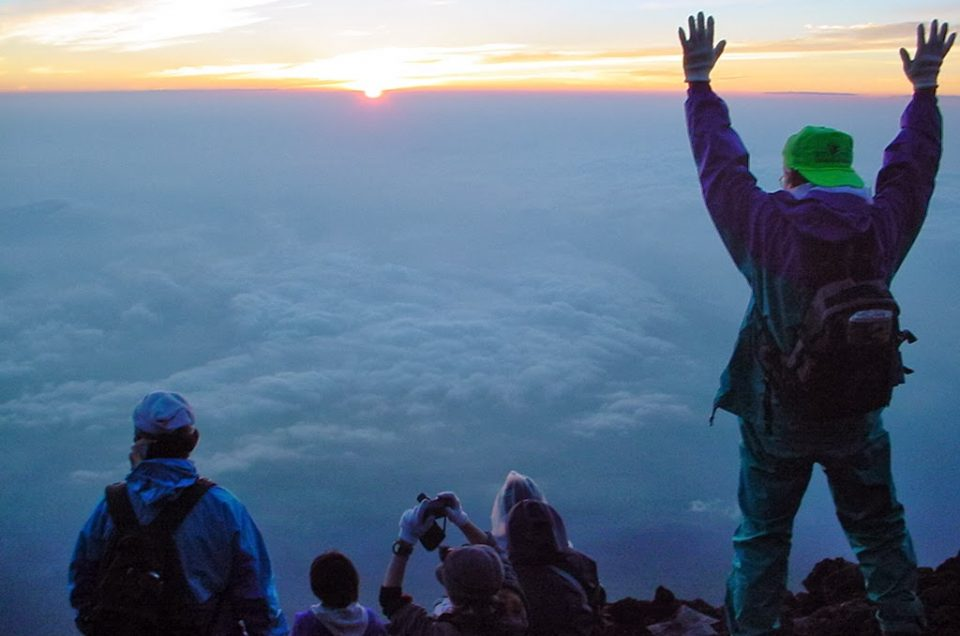 Suba o Monte Fuji (saindo de Hakone)