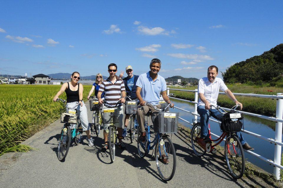 Planicies Kibi en bicicleta