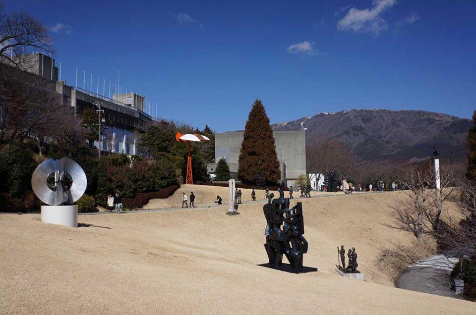 Parque das esculturas ao ar livre.