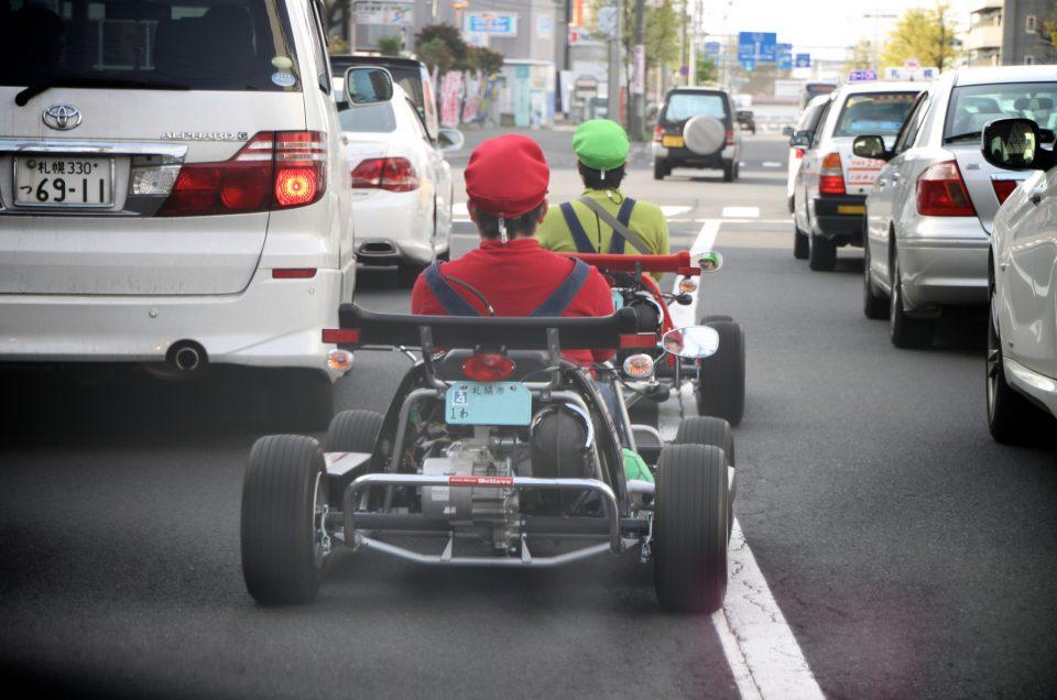 Kart de rua em Tóquio!