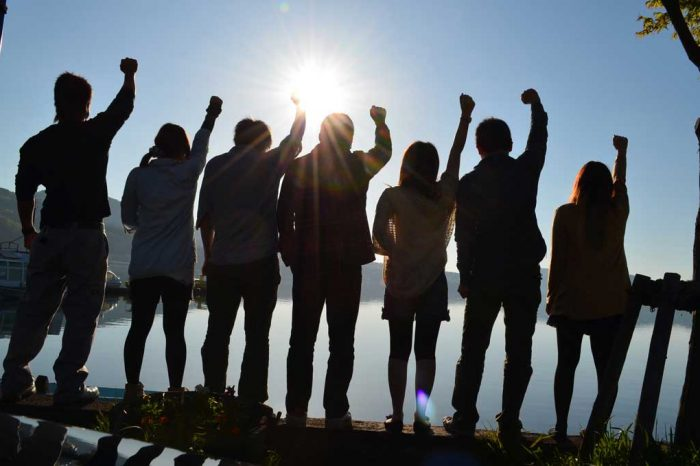 Grupos de estudantes